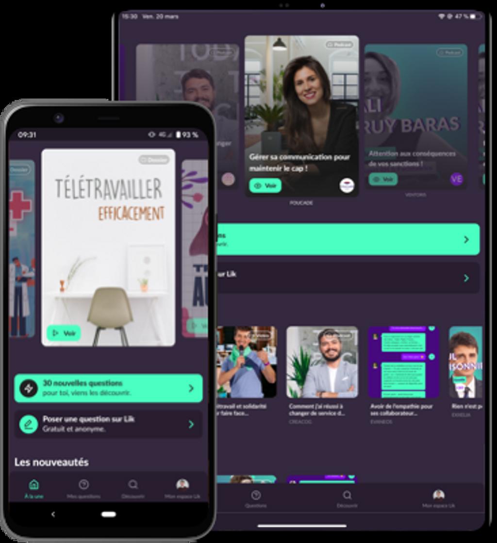 Visuel - Lik sur mobile et tablette