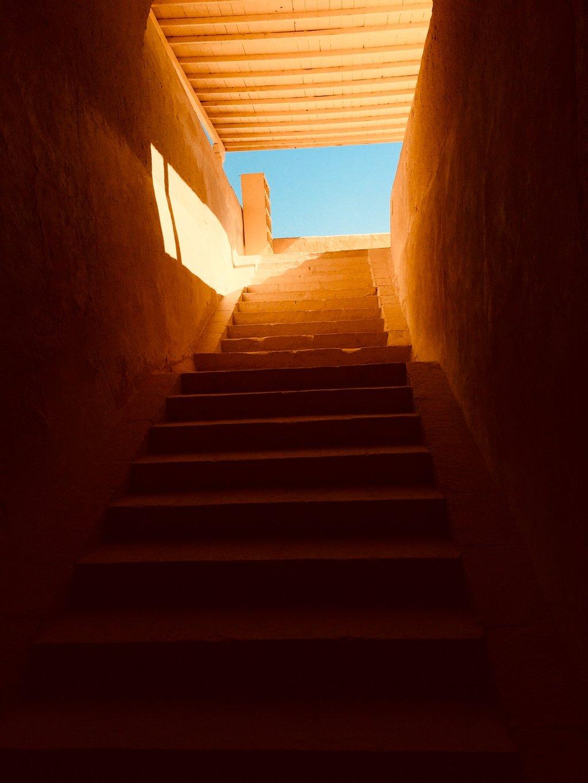 Photo d'escalier en terre cuite