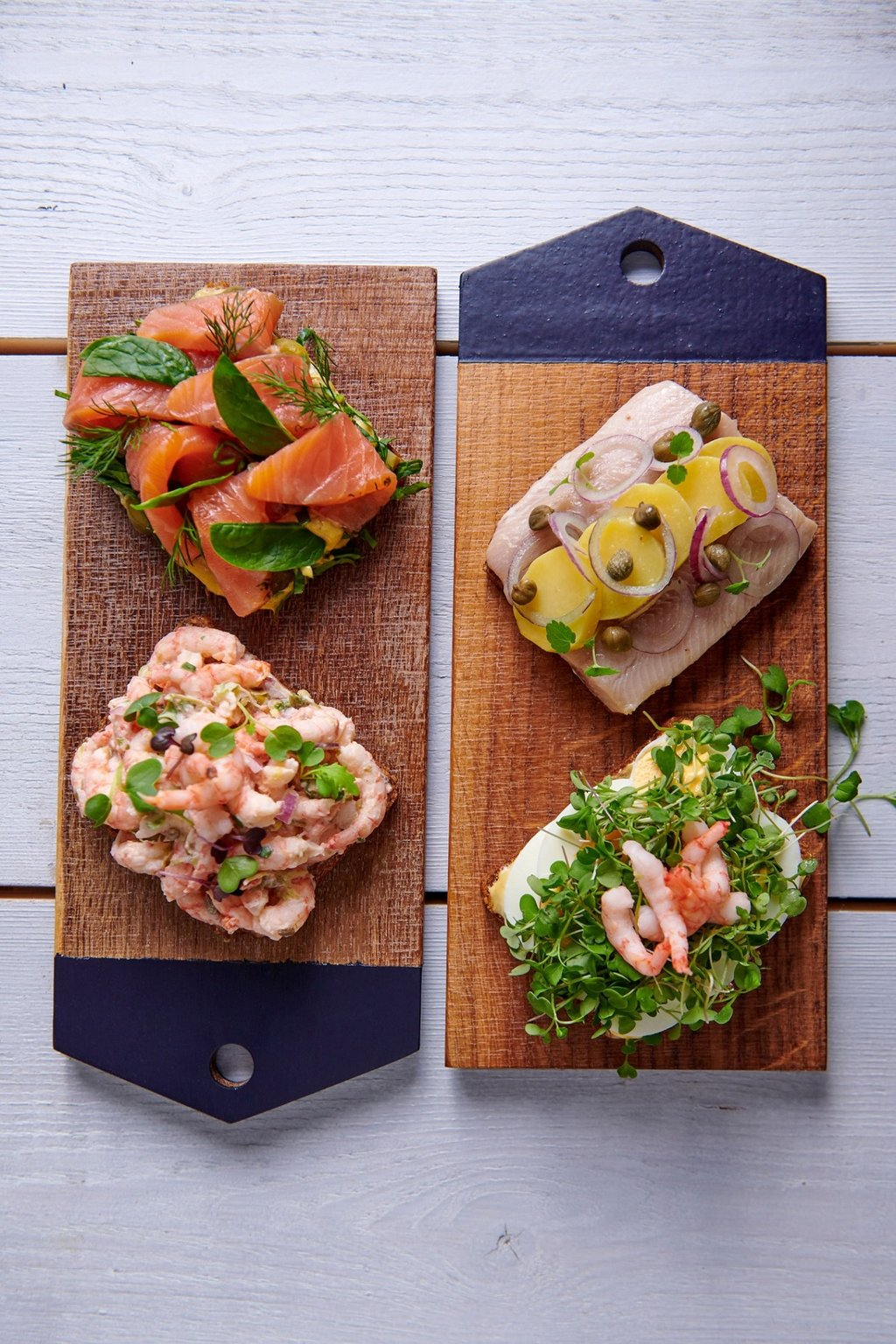 planches tartines seafood