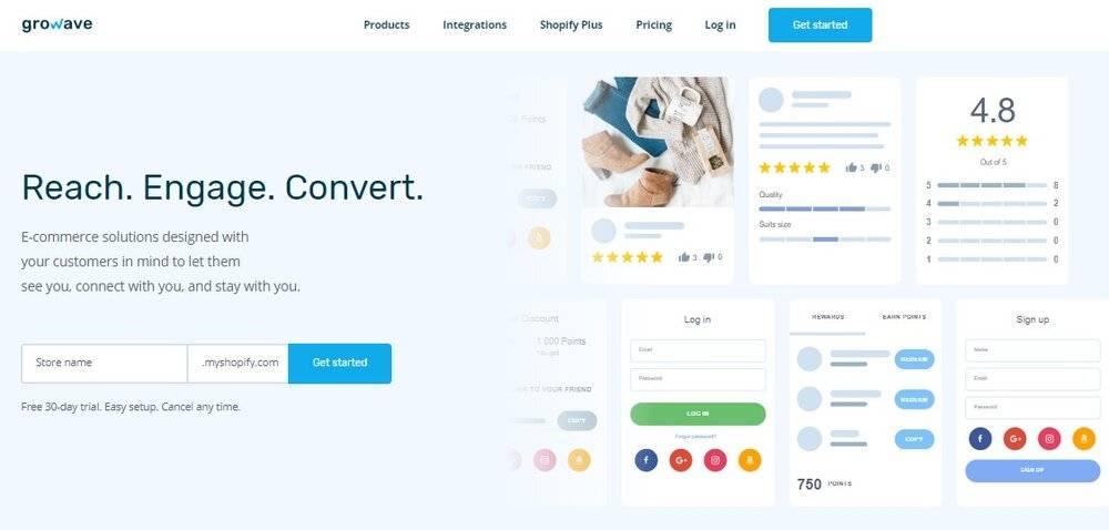 Growave Shopify App.