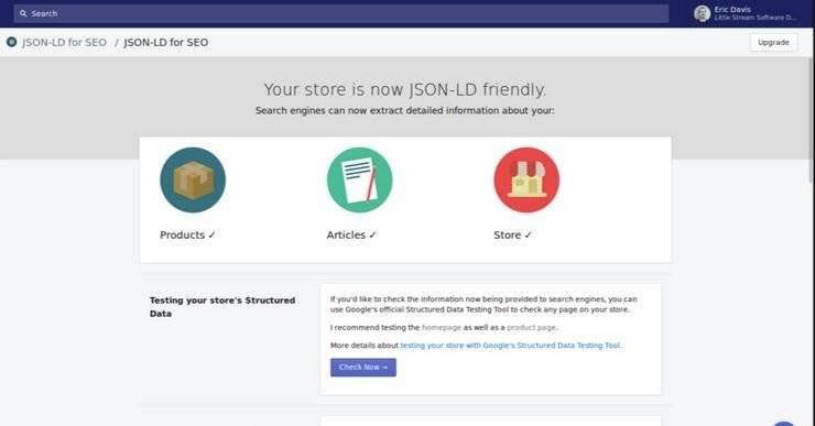 JSON-LD for SEO Shopify App.