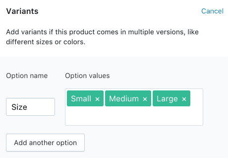 this is how you add How to add variants on Shopify