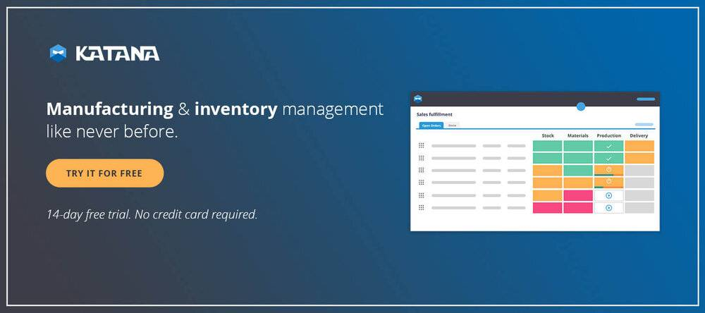 Manufacturing and inventory management software.