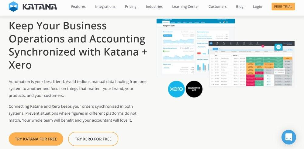 Katana is your go-to ERP integration with Xero.