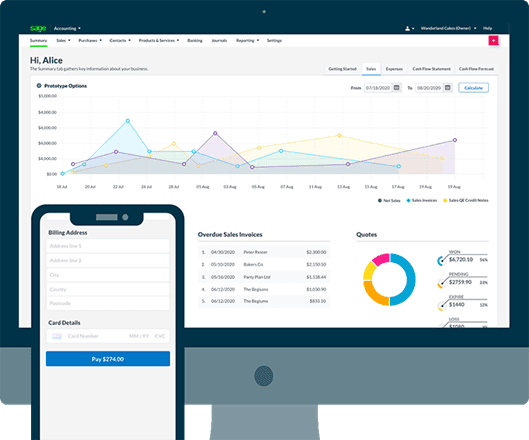 Great things come in small packages they say. And if that's true then Sage might well be one to remember, especially if you have a lower-level operation. Instant invoice reporting means you can chase up those missing bills without trawling through the accounts, making this a worthy candidate for best accounting accounting software for Shopify.