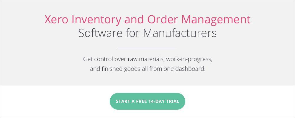 Xero Inventory and Order Management Software from Katana MRP - free for 14 days.